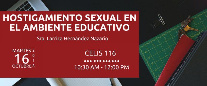 Hostigamiento Sexual en el Ambiente Educativo
