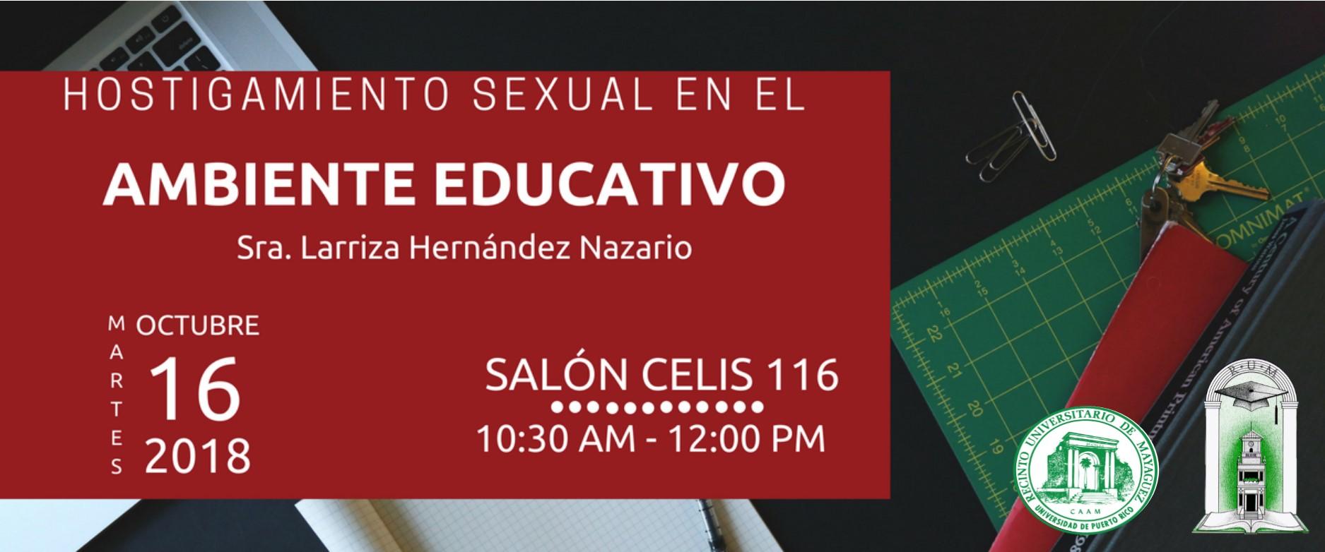 stigamiento Sexual en el Ambiente Educativo 2