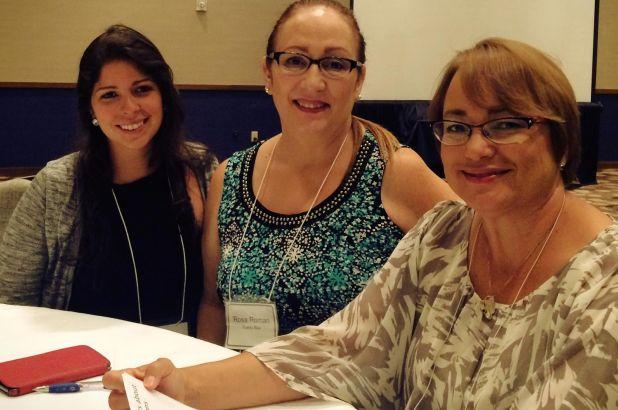 Dra. Canny Bellido, Dra. Rosa Román y la Srta. Ivanisse Ortiz en el Entrenamiento Anual 2015 del Proyecto mNET