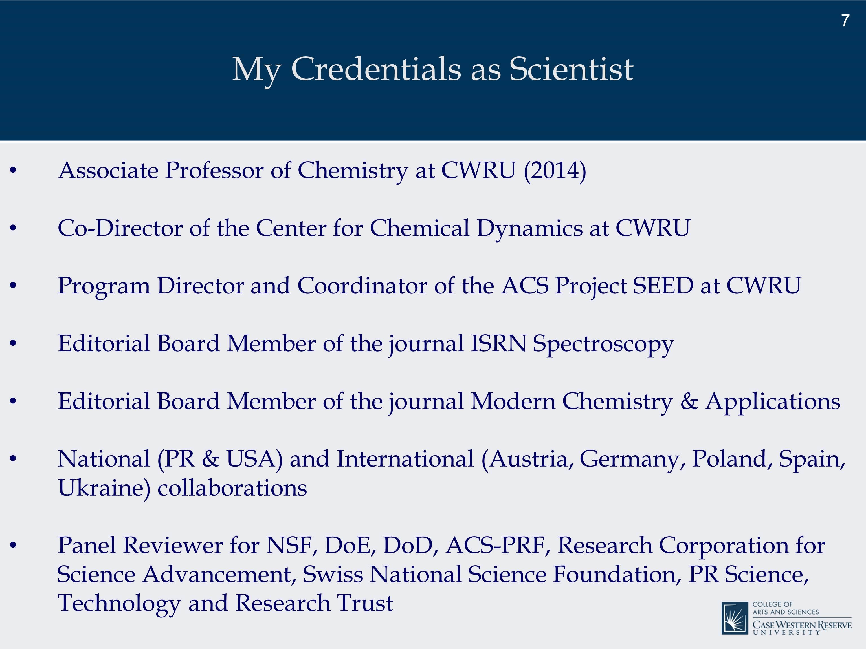 Seminar by Dr  Carlos Crespo-Hernández - Departamento de Química