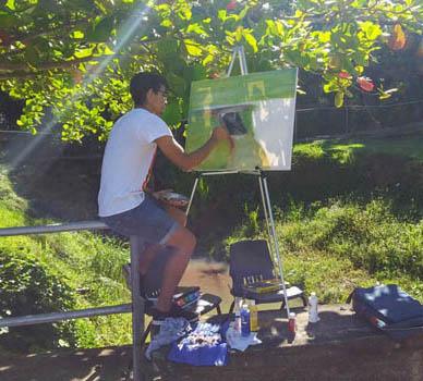 Estudiante de pintura