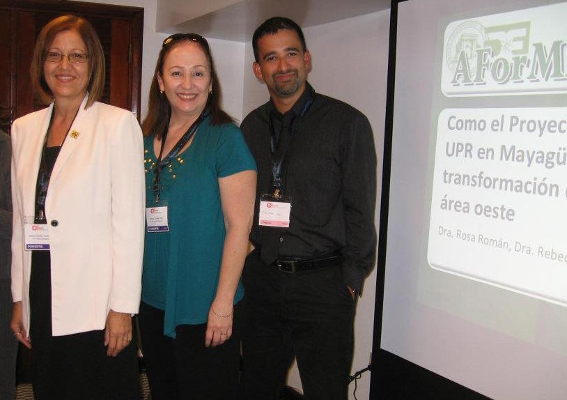 Dra. Rebeca Orama, Dra. Rosa Román y el Dr. José Ferrer en el congreso de verano de AForMAR 3