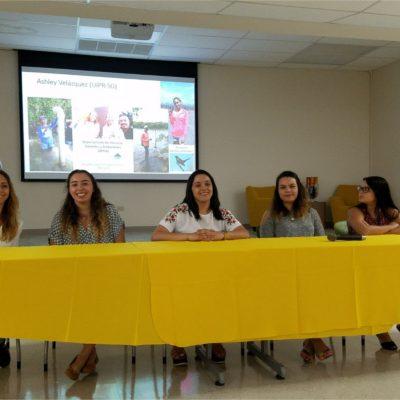 Student's Panel- Summer Internships Experiences: Ashley Velázquez (IAUPR-SG), Paola Alvarez (UPR-M), Paola Badillo (UPR-Ag), Geralis Cartagena (PCUPR-P) and Maryvelisse Pellot (UPR-Ag).