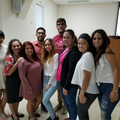 ECaFSS student's from the Inter American University of Puerto Rico- San Gemán Campus.