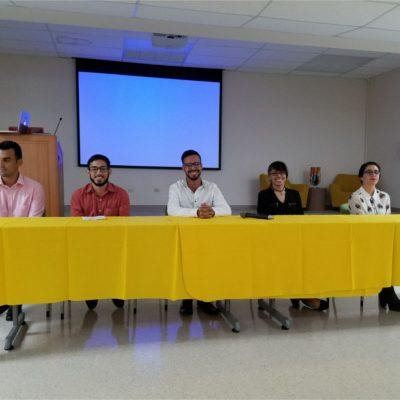 Student's Panel- Summer Internships Experiences: Christian J. Quiles Pérez (UPR-Ag), Alberto Rodríguez (IAUPR-SG), Christopher Rivera Torres (UPR-M), Patricia Cordero (UPR-M) and Yesenia Vélez (UPR-M).