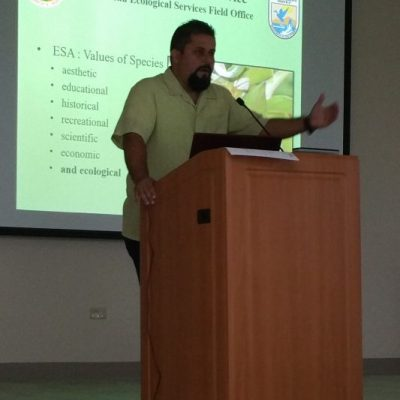 Mr. Omar Monsegur, Fish and Wildlife Biologist, offered the conference The Endangered Flora of Puerto Rico and the U.S. Virgin Islands.