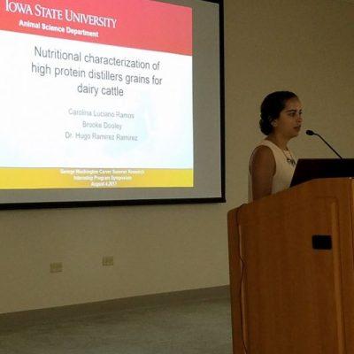 Student's Scientific Presentations: Carolina Luciano from University of Puerto Rico- Mayaguez Campus.