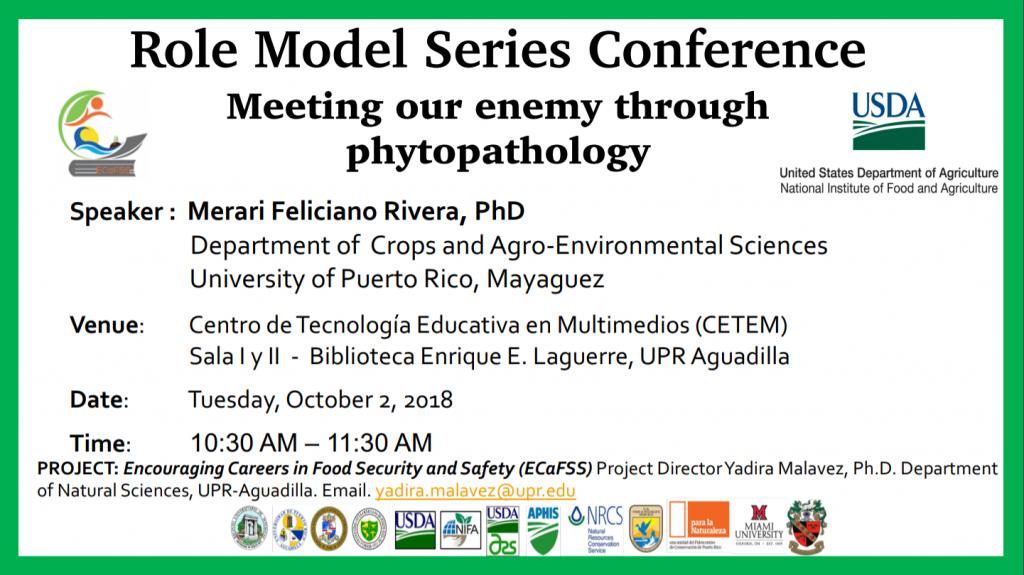 Promoción de conferencia Dr. Merari Feliciano.