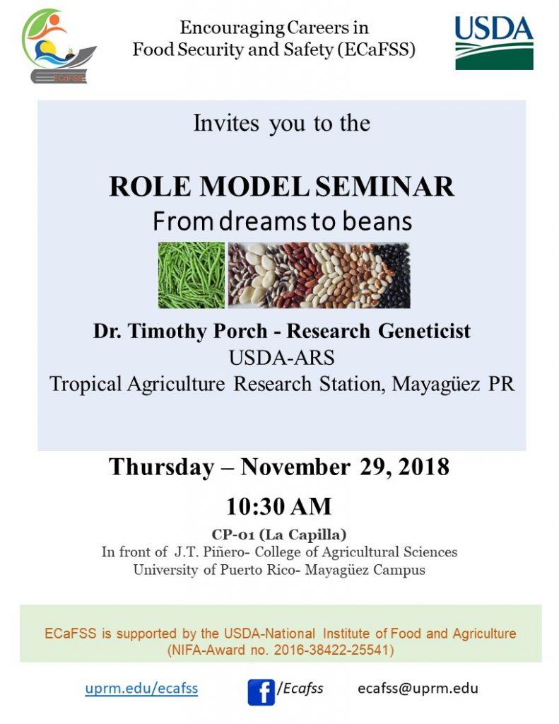 Promoción Conferencia de Dr. Tim Porch