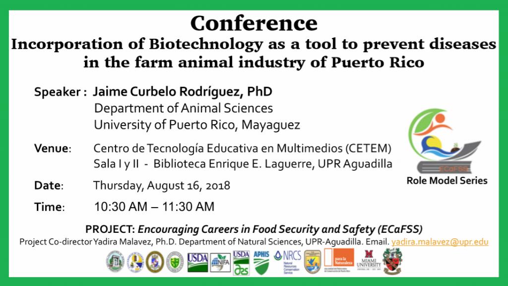 Promo de conferencia de Dr. Jaime Curbelo