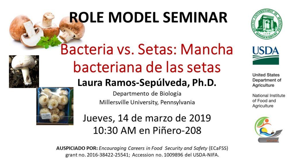 Promoción de Conferencia de Dra. Laura Ramos