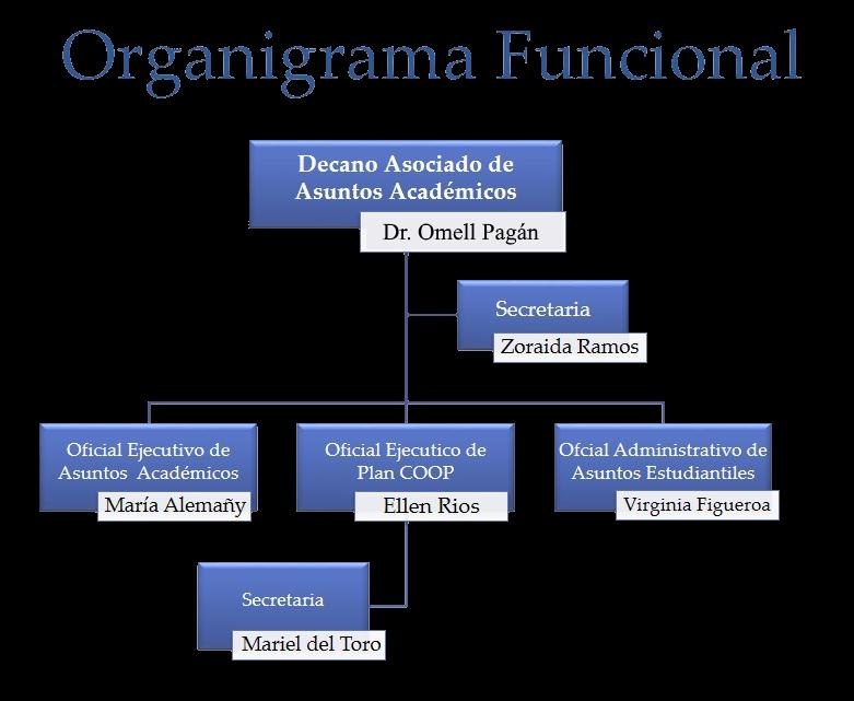 Organigrama Asuntos Académicos