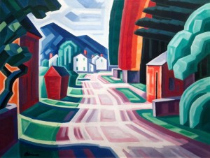 Image painted by American artist Oscar Bluemner.