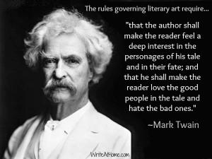 Mark Twain (The Writing at Home.com Blog).