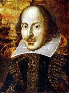 Shakespeare's Flowery Portrait. Given to the Royal Shakespeare Company by the Flower Family.