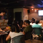 "A view of the audience and artists during the Open Mic Night. EDSA collaborated with TACU and La Cueva de Tarzan to host an ""Open Mic Night"" as part of La Cueva de Tarzan's 9th Anniversary Celebration."