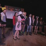 Cast members for the student presented play of The Rocky Horror Picture show on stage.