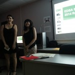 Two students giving the presentation to the students at the EDSA Fall Initiation of 2014.