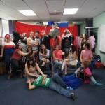 EDSA members in costume posing for the EDSA Children's Library Fantasy Event.