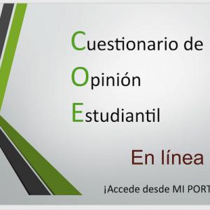 Cuestionario de Opinión Estudiantil (COE) en Línea