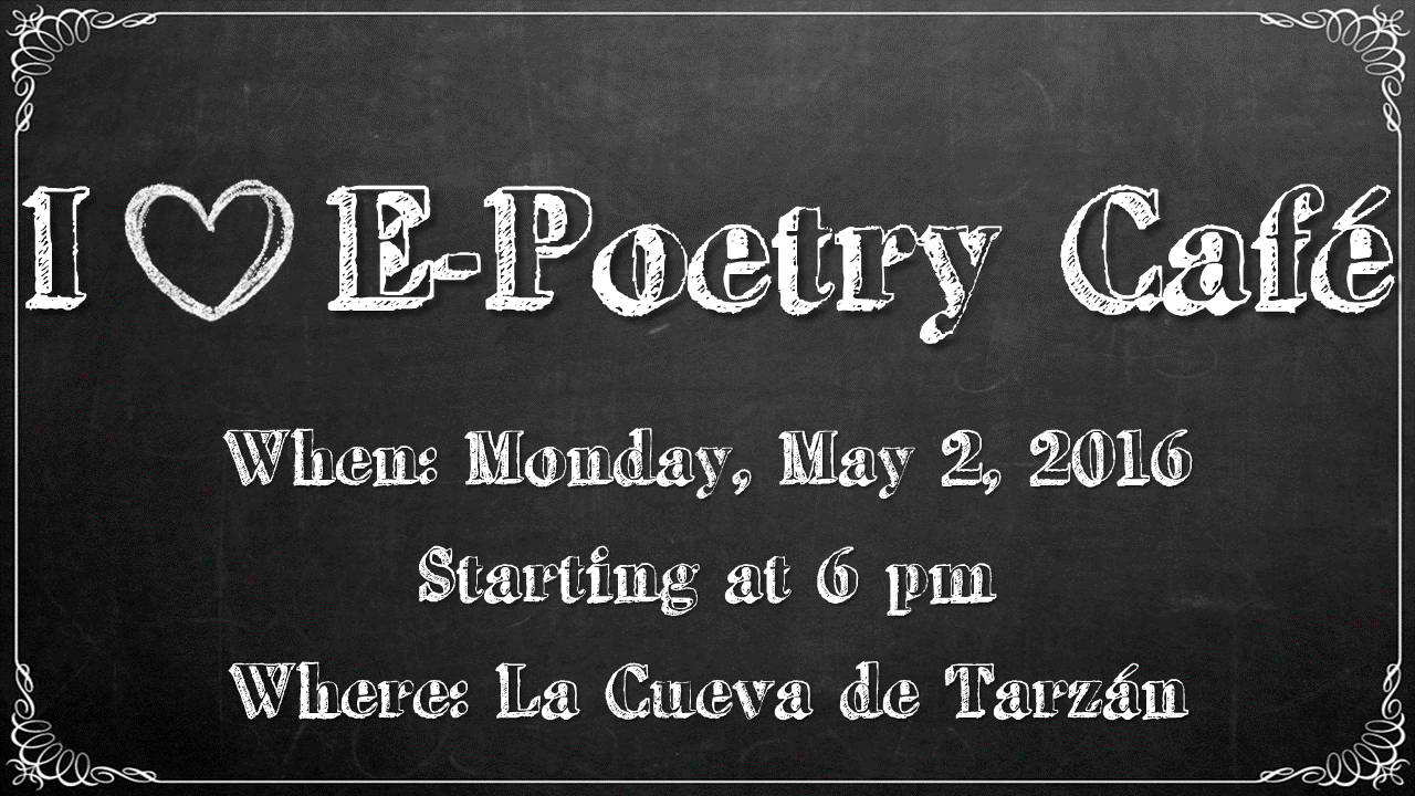 I Love E-Poetry reading Flyer