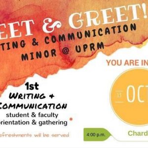 Minor in Writing and Communication Meetup