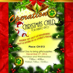 Operation Christmas Child for Puerto Rico