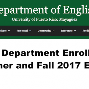 The English Department Enrollment Guide: Summer and Fall 2017 Edition