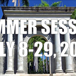 Summer Session Update