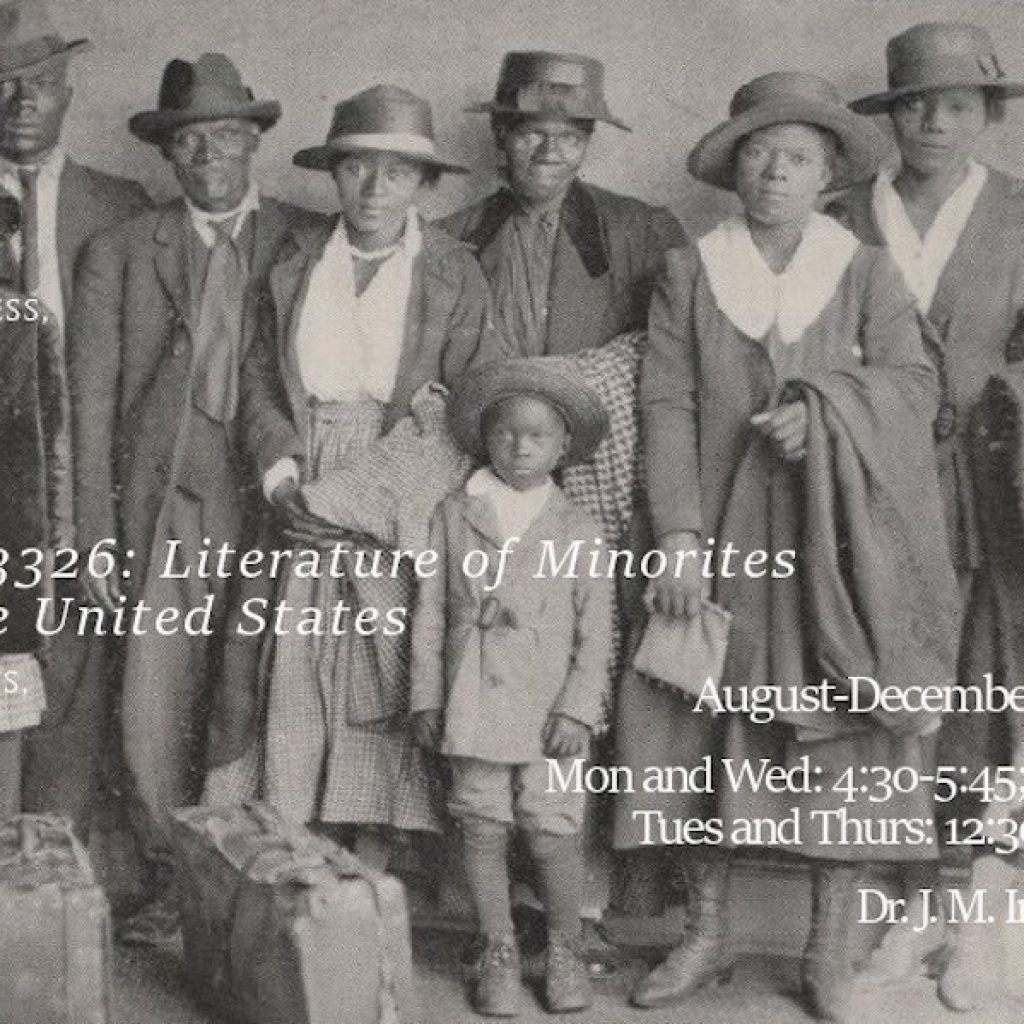 INGL 3326: Literature of Minorities in the United States