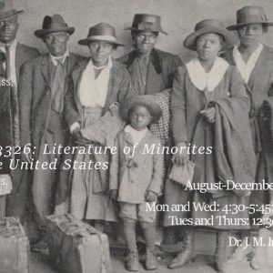 INGL 3326: Literature of Minorities in the United States