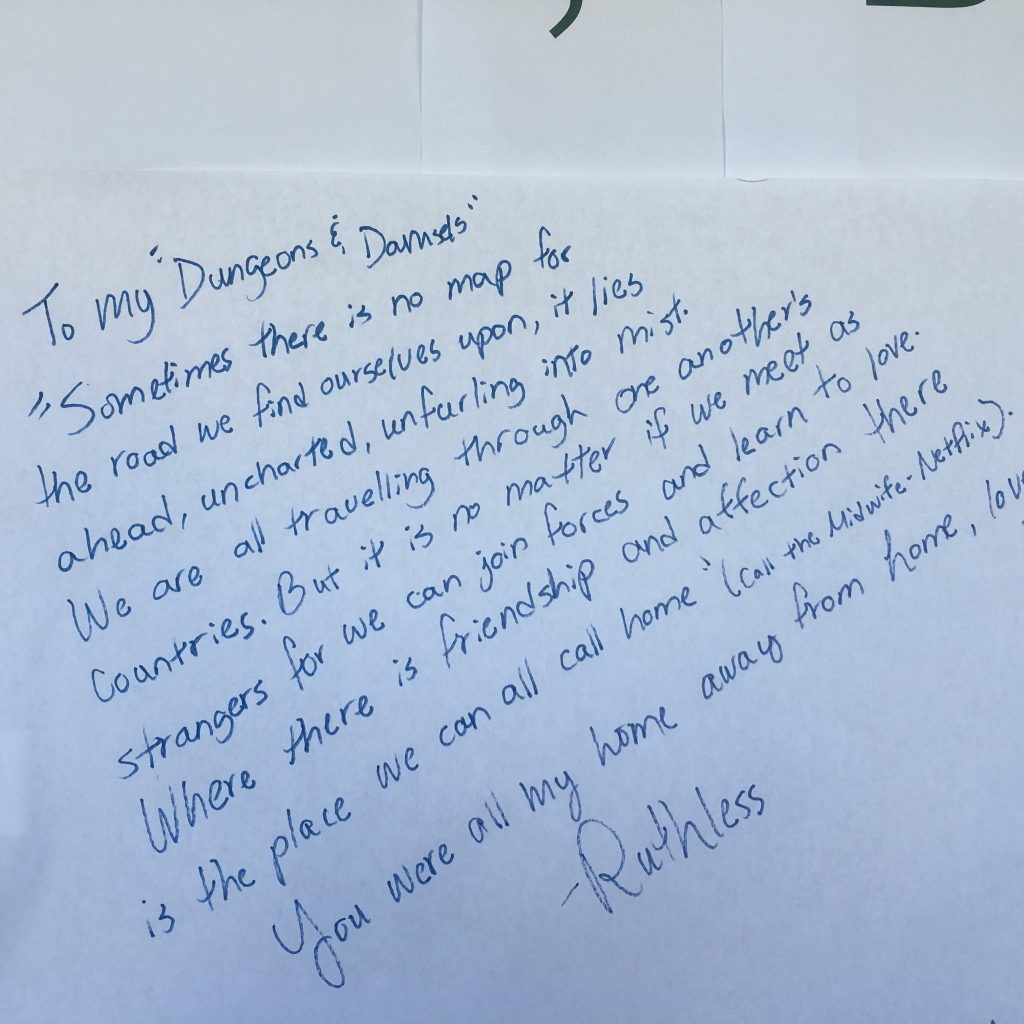 Message written on the Post-Hurricane Maria wall.