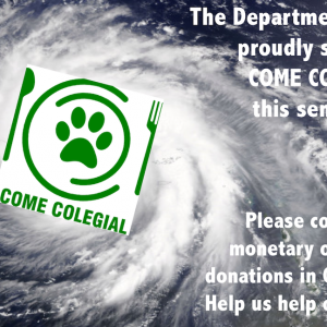 English Department Fundraising and Food Drive for Come Colegial