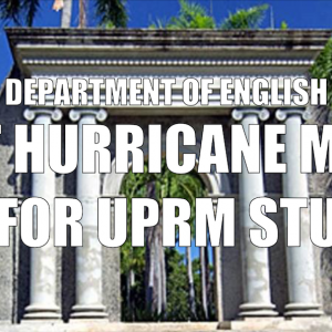 Post Hurricane María Guide for UPRM Students