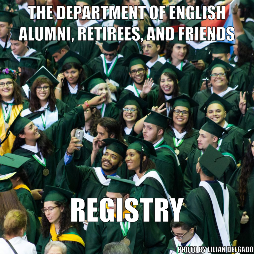 Department of English Alumni, Retirees, and Friends Registry