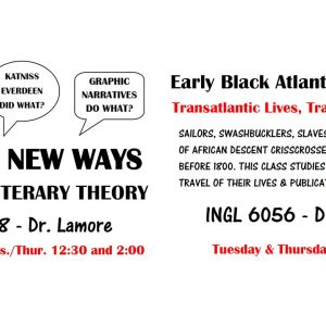Courses with Dr. Eric Lamore: Literary Theory and Early Black Atlantic Literature