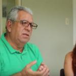 """Carlos Weber and Arleen Cruz talking at the Cinémathèque Special Screening: """"Cuentas pendientes""""."""