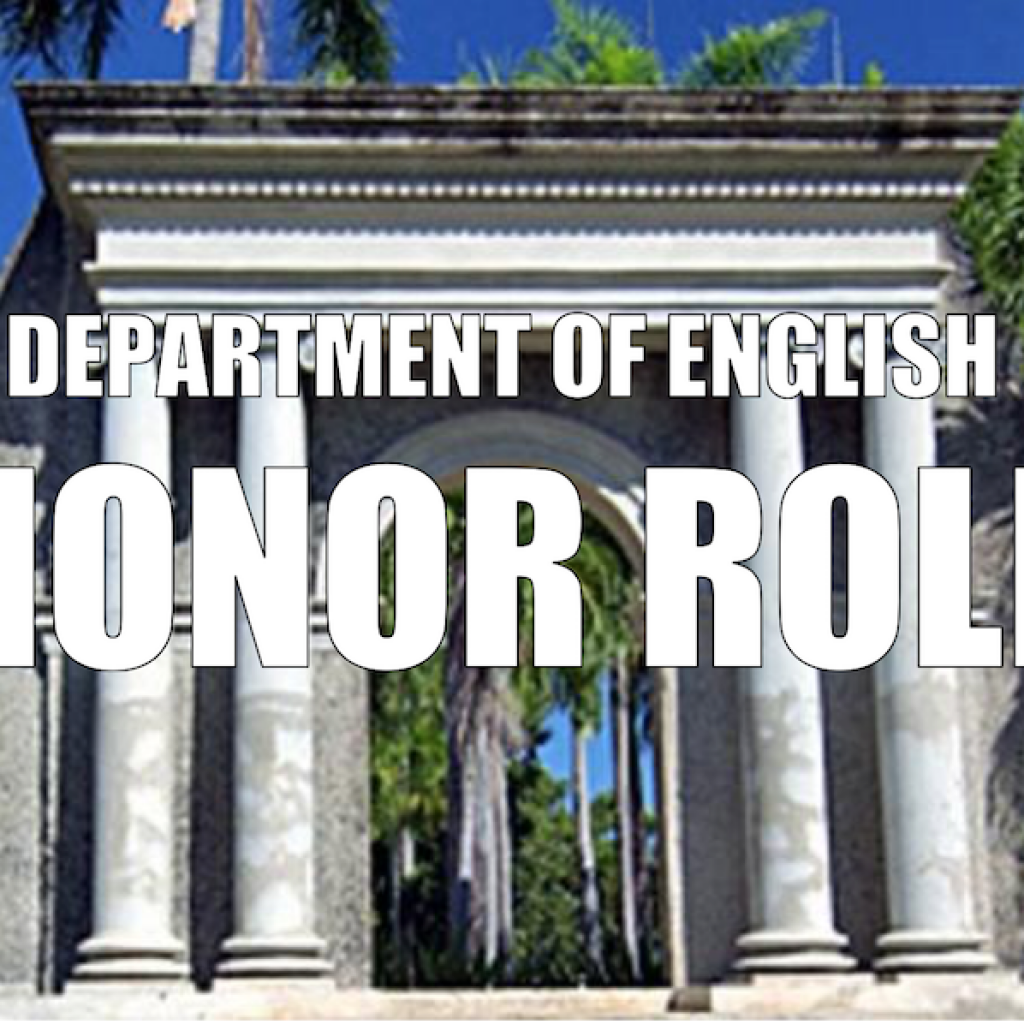 UPRM's English Department Honor Roll Students for the 2016-2017 Academic Year