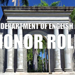 Department of English Honor Roll Header.