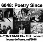 Promotion of the course INGL 6048: Poetry since 1945.