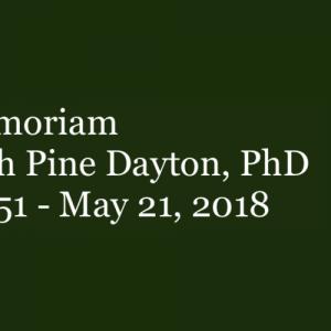In memoriam: Elizabeth Pine Dayton