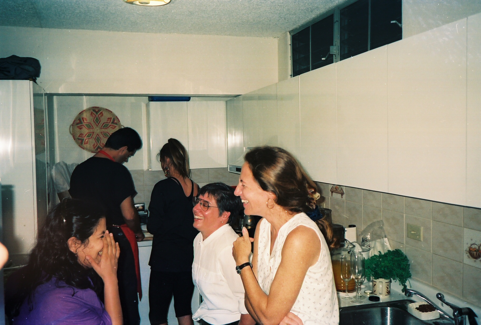 Liz Dayton at a Christmas party in 1992.