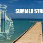 Ocean photo that says Summer Strike.