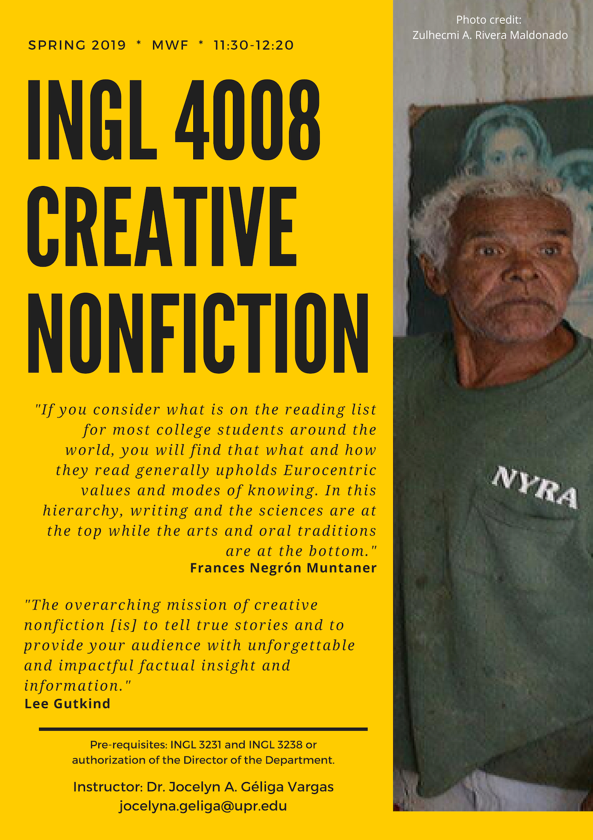 [Course Promo] INGL 4008: Creative Nonfiction Writing