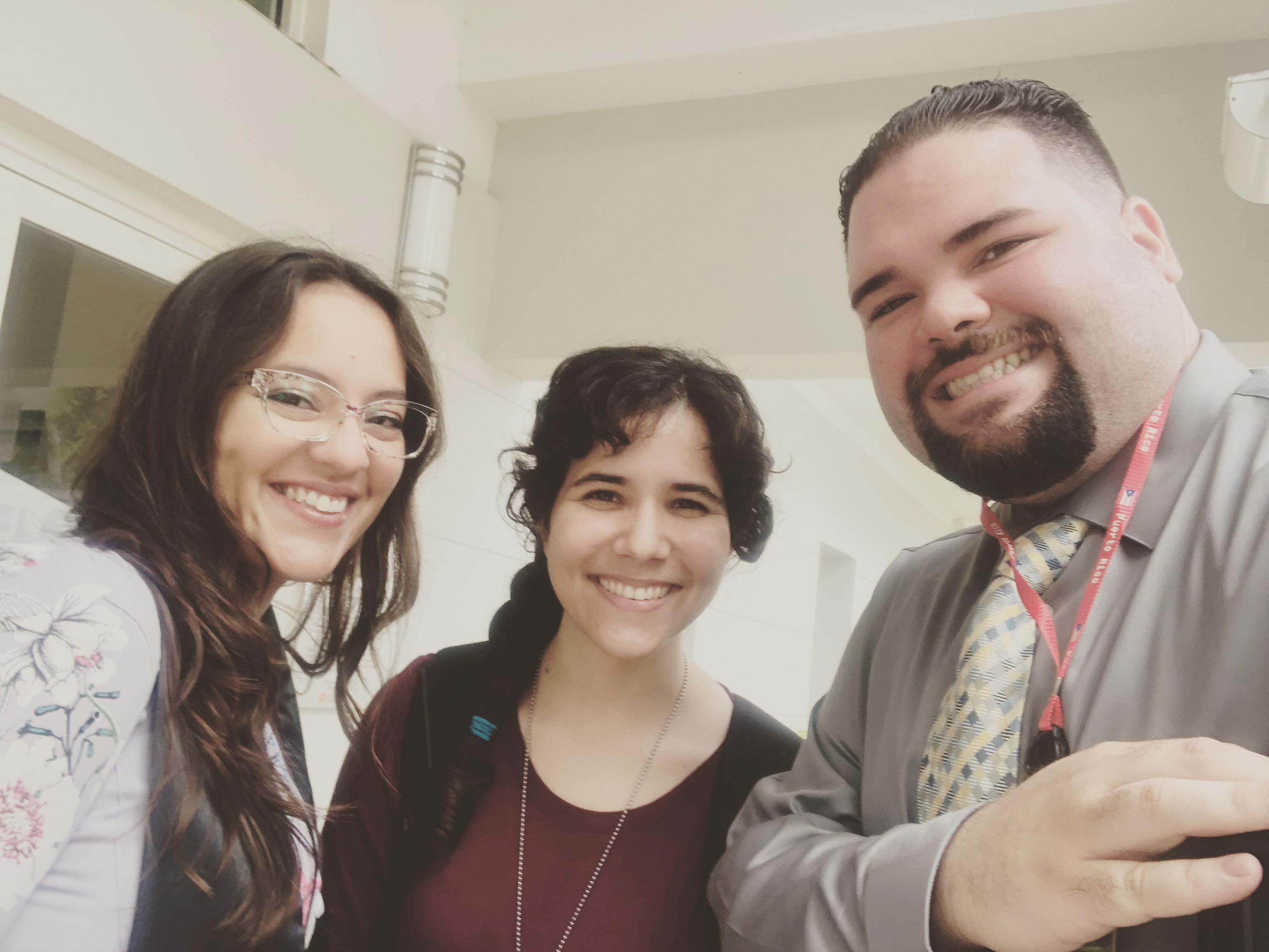 This image is of three UPRM students at the PRTESOL 2018 Convention