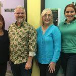 Photo with four persons: Kathy Jorge, Leonardo Flores, Rosa Román, Paulette Almodovar