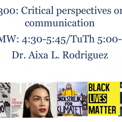 English 3300: Critical Perspectives on Political Communication