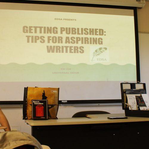 EDSA's Workshop: Getting Published: Tips for Aspiring Authors