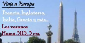 Viaje de estudios a Europa