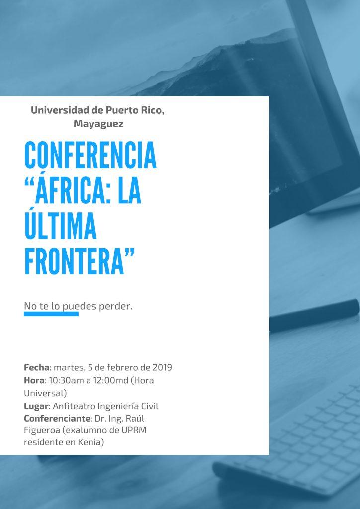 """Conferencia """"África: La Última Frontera"""""""